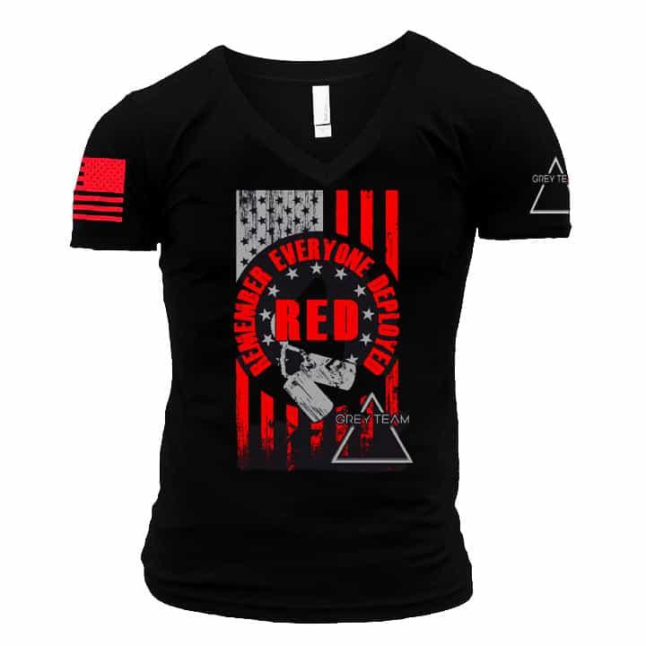 Mens RED (Remember Everyone Deployed) T-shirt