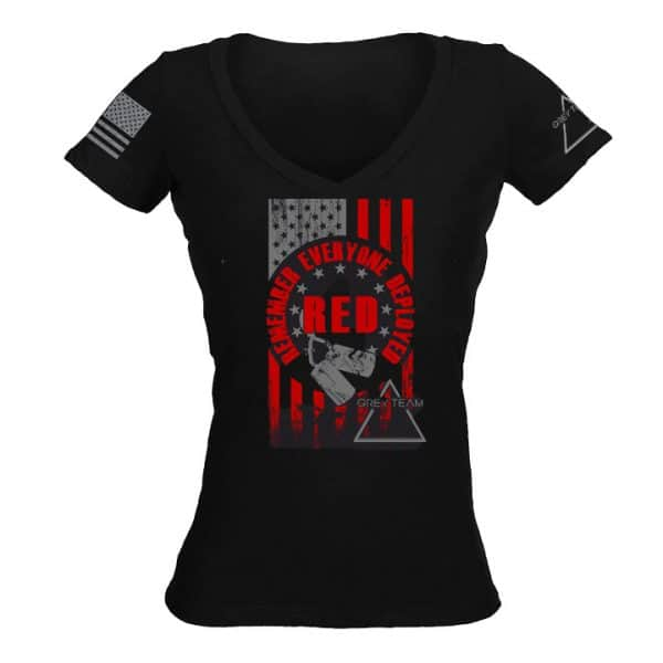 Womens RED V Neck