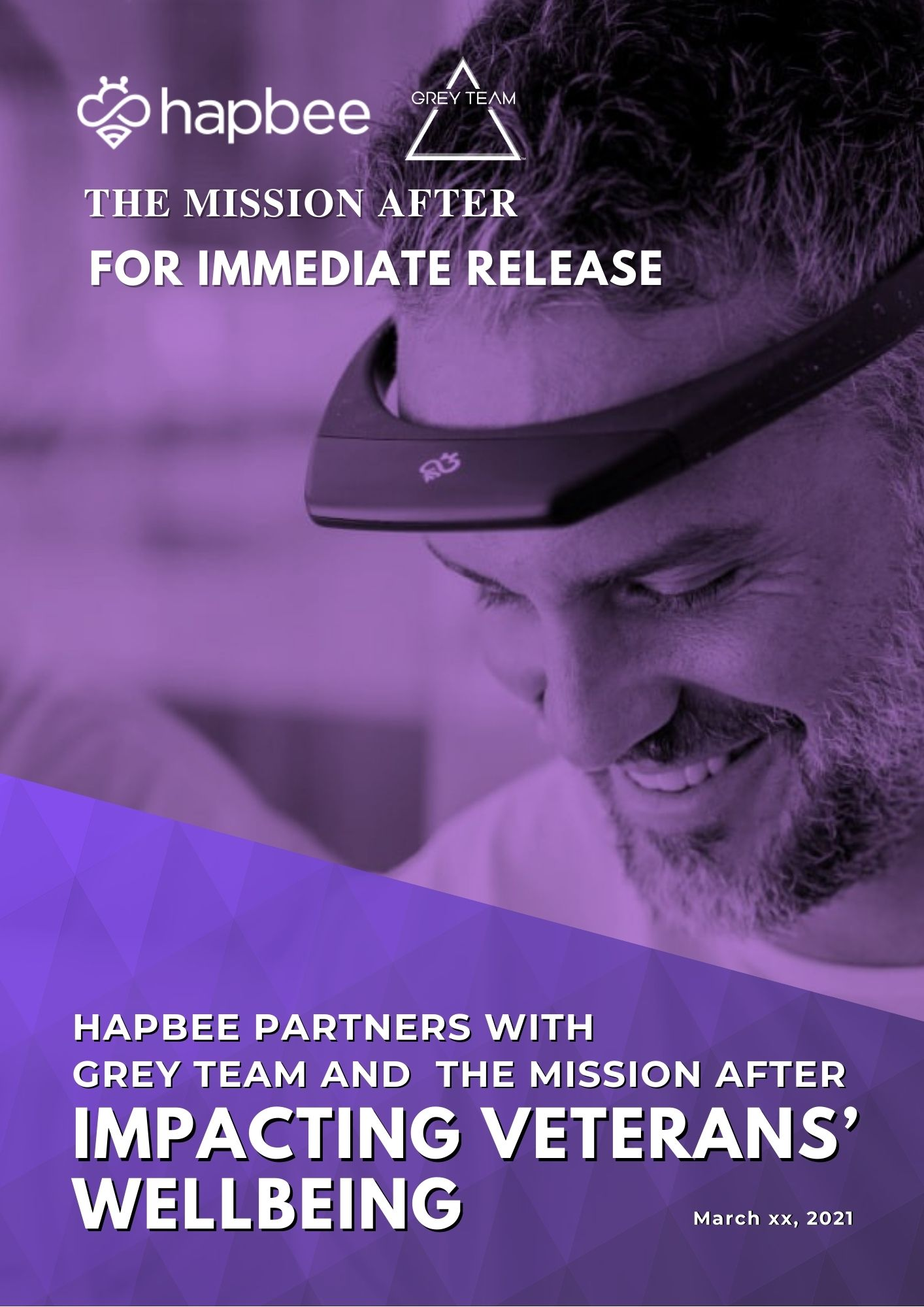 Hapbee Partners with Grey Team and The Mission After Impacting Veterans Wellbeing